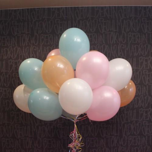 Шарики(Розовый,персиковый,белый,тифани)-15шт