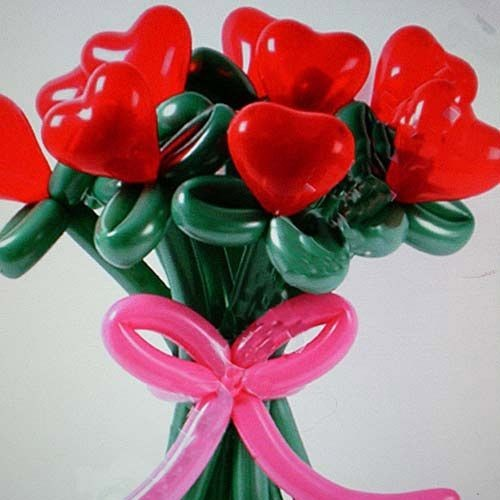 Букет красные сердечки