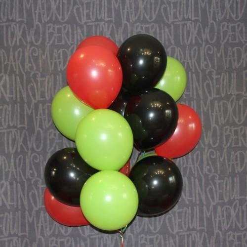 Шарики (черный,красный,салатовый) 15шт