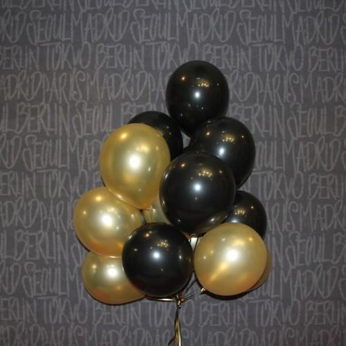Шарики (черный ,золотой) 15шт