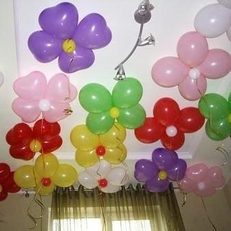 Гелевые цветы под потолок 1 шт.