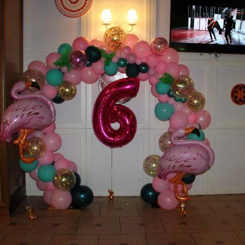 Фотозона фламинго