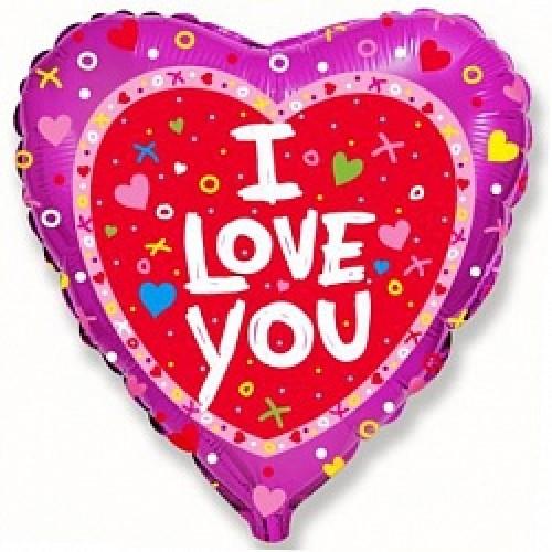Фольгированное сердце «I Love You»