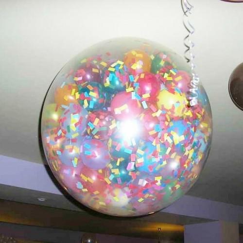 Прозрачный шар сюрприз с конфетти