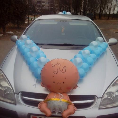 Оформление автомобиля малышь