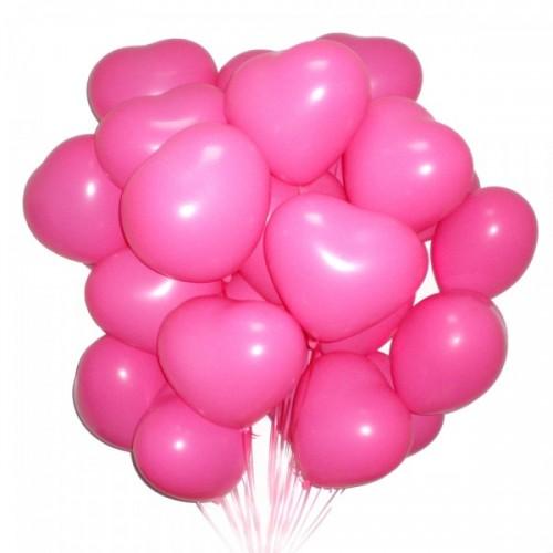 Сердца розовые -15шт
