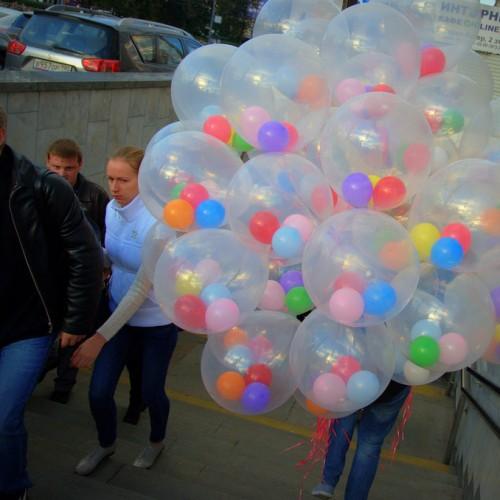 Воздушные шарики в шаре