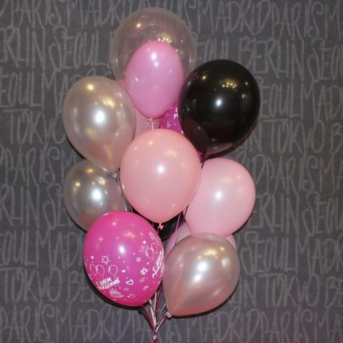 Композиция из гелиевых шаров для девушки 15шт