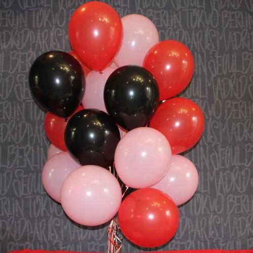 Шарики (красный,черный,розовый) 15шт