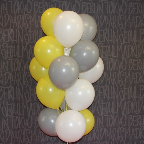 Шарики (серый ,белый,желтый) 15шт