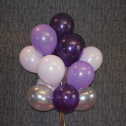 Шарики (серебро,сирень,фиолетовый) 15шт