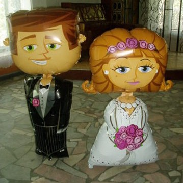 Жених и невеста (127 см)
