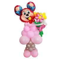 Фигура Минни Маус с цветами из воздушных шаров