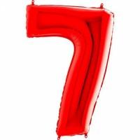 Фольгированная цифра 7 красн