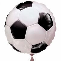 Фольгированный шар Футбольный Мяч Черный