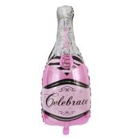 Бутылка шампанского розовая