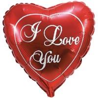 Фольгированное сердце большое «I Love You», (92 см, красное)