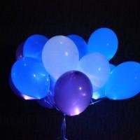 Шарики (белый,синий,фиолетовый,голубой)15шт