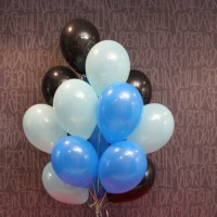 Шарики (черный,тифани,синий)15шт