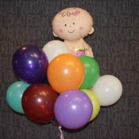 Малышка и шарики р\ц 15шт